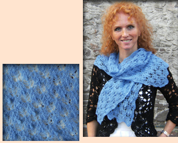 Hand Knitted Blue Scarf